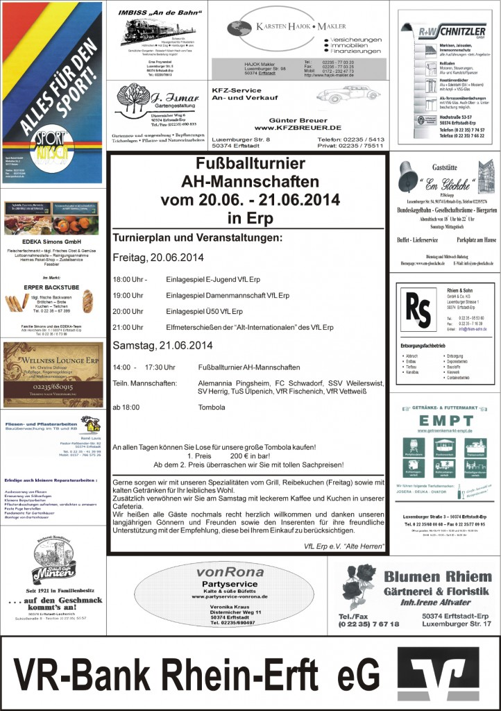 Plakat AH-Turnier 2014